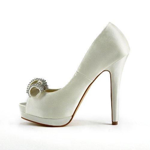 Jia Jia Wedding 40981 Hochzeitsschuhe Brautschuhe Damen Pumps Beige