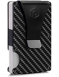 Minimalist Carbon Fiber Wallet for Men with RFID Blocking System - Money Clips for Men V2