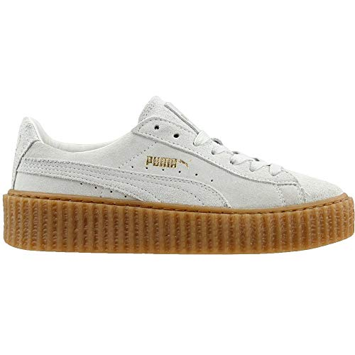 brand new 94932 8e3df Puma Womens Fenty by Rihanna White Suede Creepers 36100506 Sneakers Shoes
