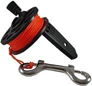 Scuba Choice Scuba Diving Compact Finger Spool with Plastic Handle, 65', Orange
