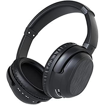 ALZN Active Noise Cancelling Bluetooth Headphones, Wireless Over-ear Stereo Earphones with Microphone and Volume Control