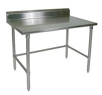 Amazoncom John Boos STRSBK Gauge Stainless Steel Work - 16 gauge stainless steel table