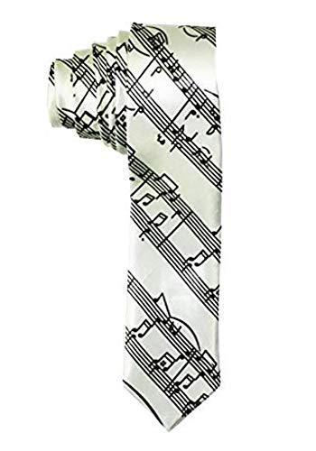 Outer Rebel Fashion Skinny Tie- Diagonal Sheet Music, Black on - Tie Music Sheet