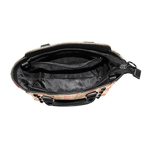 Christmas Women's Bags Santa Shoulder Handbags Tote TIZORAX Claus Leather dSfHdqn