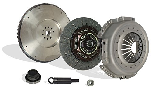 (Clutch Conversion Kit With Flywheel Works With Ford F Sd F250 F350 XL XLT Custom 1988-1994 7.3L V8 DIESEL OHV Naturally Aspirated 7.3L V8 DIESEL OHV Turbocharged)