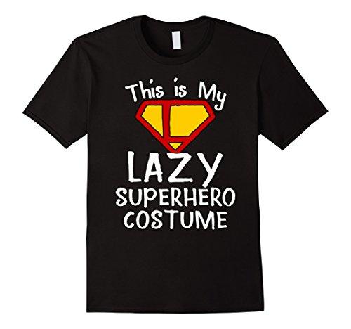 Funny Superhero Costumes (Mens This Is My Lazy Superhero Costume Cute T-shirt Large Black)