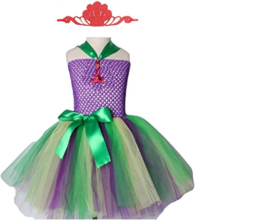 The Mermaid Princess Tutu Dress Costume from Chunks of Charm (4T, Tutu Dress)]()