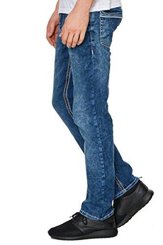 Rusty Neal Jeans Herren Hose Japan Style Clubwear Vintage Verwaschen Fit Used, Modell:8323-38;Hosengröße:W38/L34