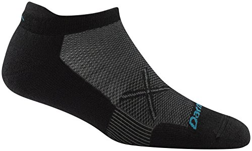 Darn Tough Vertex No Show Tab Ultralight Sock - Women's Black/Gray Medium (Past Season) by Darn Tough