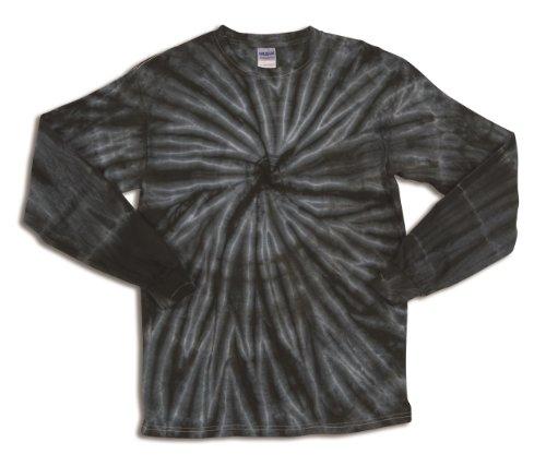 Dyenomite Tie Dye Cyclone L Black Long Sleeve