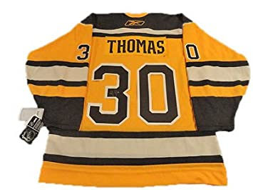 33bcc0d0a Image Unavailable. Image not available for. Color: TIM THOMAS SIGNED 2010  WINTER CLASSIC JERSEY BRUINS ...