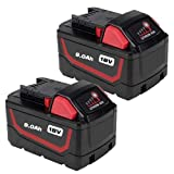 18V 9.0Ah Replacement Li-ion Battery for Milwaukee m 18 48-11-1815 48-11-1828 48-11-1830 48-11-1890 Cordless Power Tools (2 Packs) -  HOMEDAS Direct