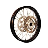 Warp 9 Complete Wheel Kit - Rear 18 x 2.15 Black Rim/Silver Hub/Silver Spokes and Nipples for KTM 250 SX 2003-2018