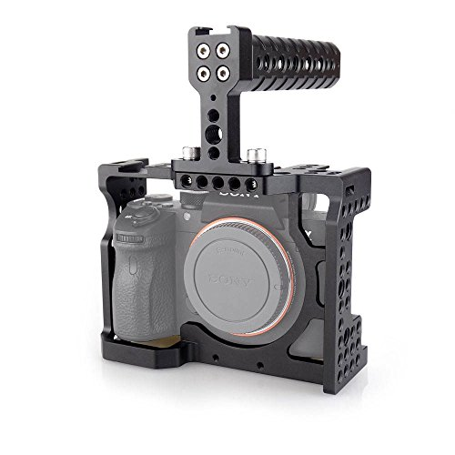 ACCSTORE DSLR Camera Cage with Top Handle For Sony A7II/A7II