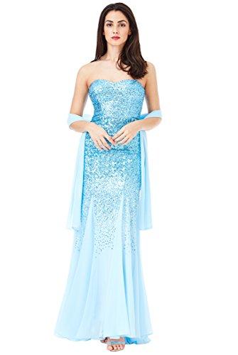Goddiva Kleid blau blau Damen size One CCfrUxn