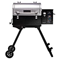 Camp Chef Pursuit 20 Portable Pellet Grill Smoker, Stainless Steel (PPG20) - Smart Smoke - Slide and Grill Technology from famous Camp Chef