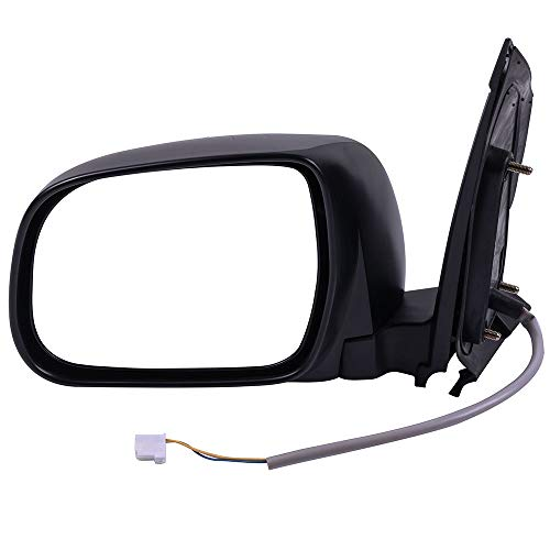 OCPTY Left Side Mirrors Fits for 2004-2010 Toyota Sienna Power Adjustment Non-Heated Black Manual Folding Replacement Rear View Door Mirror Driver Side ()