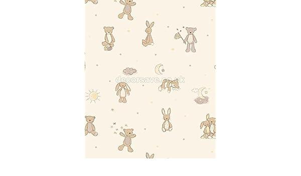 Arthouse Imagine Fun Bear Hugs Neutral Wallpaper 667401 - Childrens Teddy Bunny by Arthouse - - Amazon.com