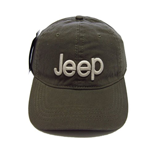 (Jeep Unisex Solid Color Adjustable Cutton Baseball Cap Outdoor Sunhat With Front Logo,Green )