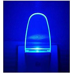 4 Pack Night Light Lamp with Dusk to Dawn Sensor, Plug in, Blue Led Night Light