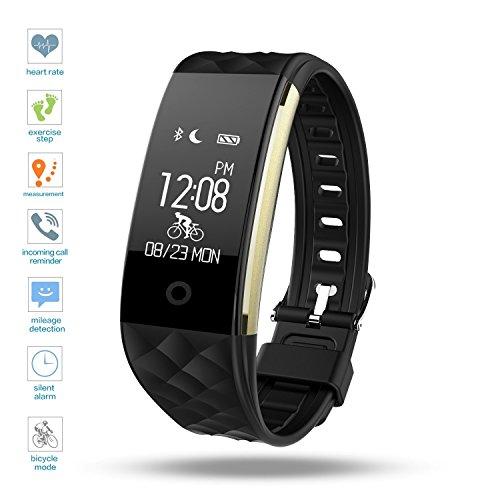 Digital Watch Smart Bracelet Sport Fitness Tracker – TKStar Smartwatch Wristband Waterproof IP67 Waterproof Smart Watch with OLED Touch Screen Smart Wristband for iphone samsung Xiaomi Huawei Sony Android Including for Men and Women, black