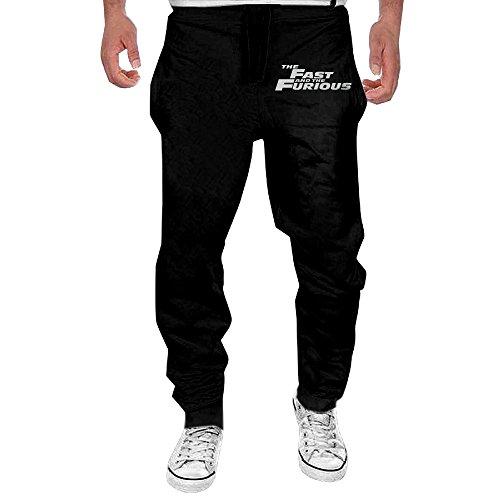 Blu Ribbed Jersey (Men's Fast & Furious Elastic Jersey Sweatpants Black L)