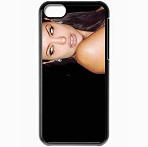 Personalized iPhone 5C Cell phone Case/Cover Skin Angelina Jolie Angelina Jolie Actors Black