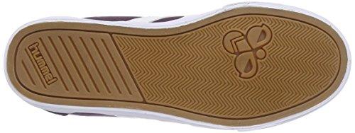 Hummel Sstadil White Cheveron - Zapatillas de lona para hombre blanco blanco Morado (plum perfect 4073)