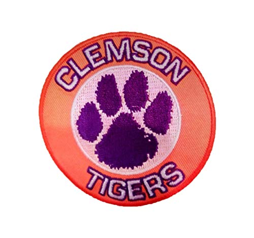 - Clemson University Tigers Vintage Embroidered Iron ON Patch 3