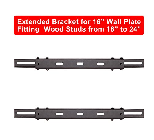 "Mounting Dream MD5231 TV Wall Mount Extended Bracket for 16"" Wall Plate, Fitting 18"" - 24"" Wood Stud, Max Loading Capacity of 154 LBS"