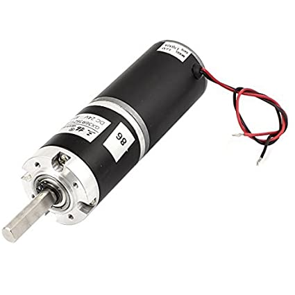 DC24V 80 rpm Diámetro 36 mm de alto par motor DC Caja de engranajes reductor de