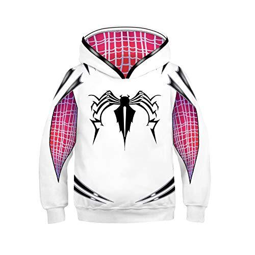 Venom Hoodie Boys,Kids Girls Gwen Stacy Venom Hoodie Spider-Verse Hooded Pullover Shirt