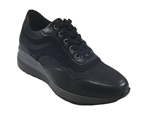 de para Negro Zapatillas sintética Mujer Piel Senza Marca 1nUEw4xqBP