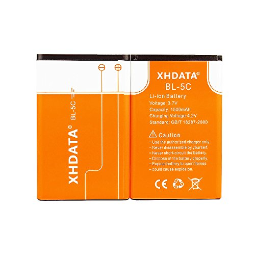 - XHDATA BL-5C 3.7V 1500Mah Rechargeable Battery for Radio(2 Pieces