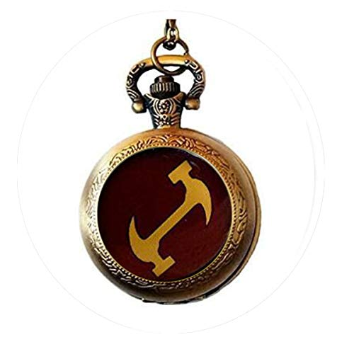 The Simpsons Stonecutters- Religious Jewelry Pocket Watch Necklace Charm Bible Quote Pendant - Christian Necklace - Religious Jewelry]()
