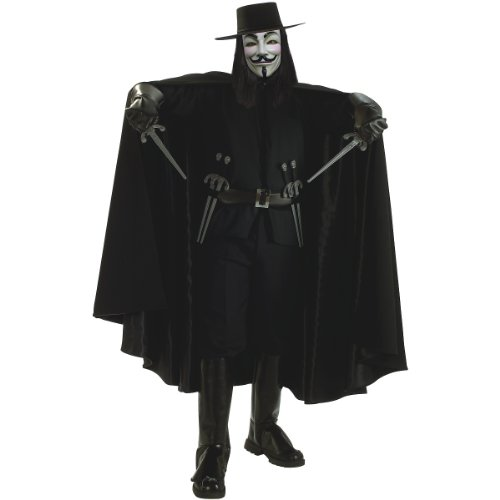 Super Deluxe V for Vendetta Adult Costume - Standard by Rubie's Costume Co