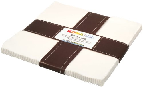 Kona Cotton SOLIDS SNOW Layer Cake 10
