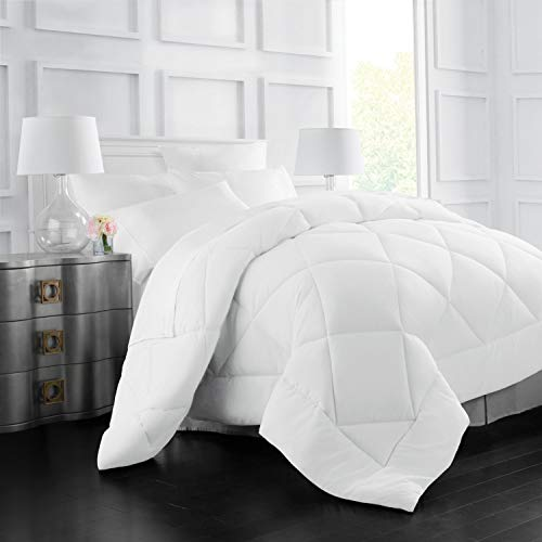 Egyptian Luxury Goose Down Alternative Comforter - All Season - 2100 Series Hotel Collection - Luxury Hypoallergenic Comforter - King/Cal King - White