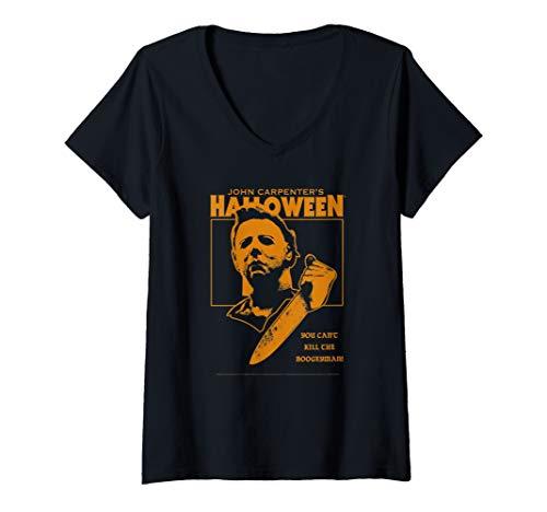 Gta V Halloween Shirts (Womens Halloween You Can't Kill the Boogeyman!  V-Neck)