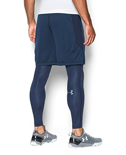 Under Armour Men's HeatGear Armour Printed Compression Leggings, Midnight Navy/Steel, Small by Under Armour (Image #3)