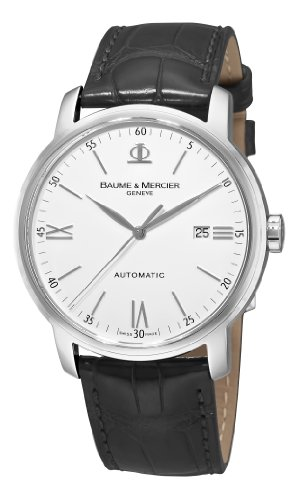 Baume-Mercier-Mens-8592-Classima-Automatic-Leather-Strap-Watch