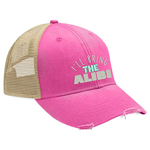 I'll Bring The Alibi Trucker Hat - Neon Pink ()