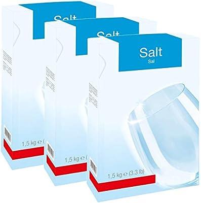 Spares2go - Sal para lavavajillas (3 cajas de 1,5 kg): Amazon.es ...