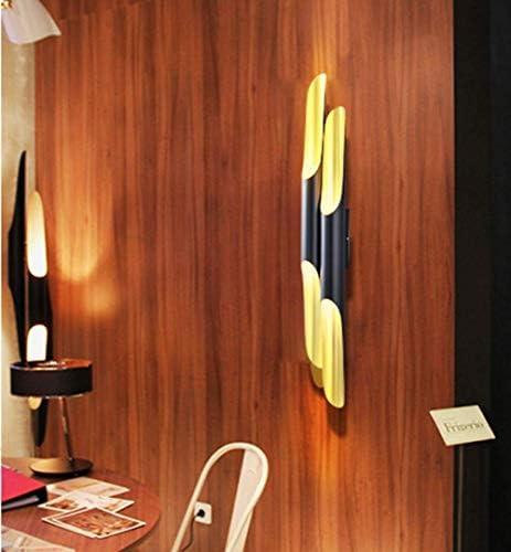Wall Lamps Modern E27 Wall Light (Black + Gold) 4-Flame Wall Lamp Aluminum Scandinavian Lampshade for Bar Cafe Bedroom Living Room Interior Lighting