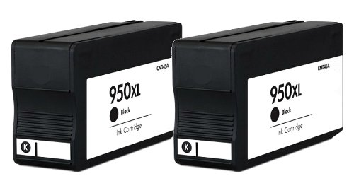 HouseOfToners Remanufactured Ink Cartridge Replacement for HP 950XL CN045AN (2 Black, 2-Pack)