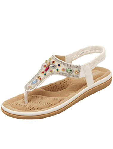 Stile Piatto Tacco Bianca A Vogstyle Donne Bohemian Pantofole Scarpe Nuove Sandali Stile 3 qnAxCwOU