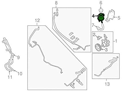 Amazon Com Nissan 49180 7s000 Power Steering Reservoir Automotive