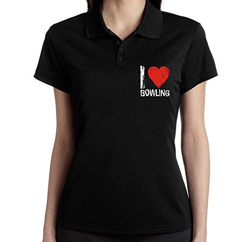Teeburon I Love Bowling Polo Camisa Mujer: Amazon.es: Ropa y ...