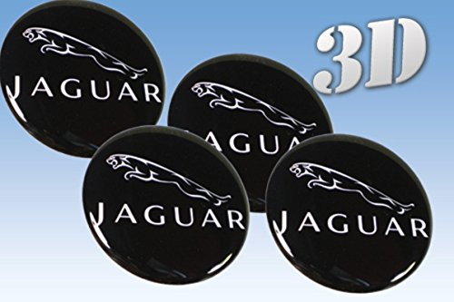 Wheel stickers Jaguar imitation all size Centre Cap Logo Badge Wheel Trims 3d (40mm.)