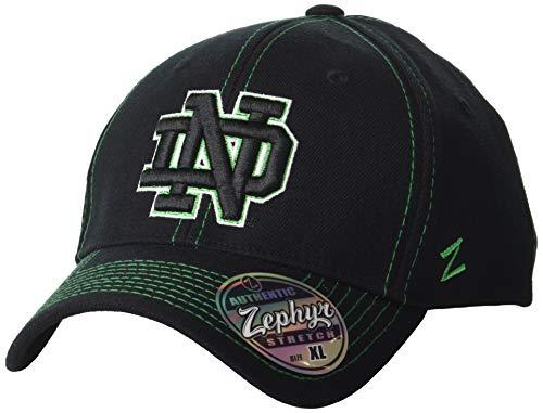 Zephyr NCAA Notre Dame Fighting Irish Men's Finisher Z-Fit Cap, X-Large, -